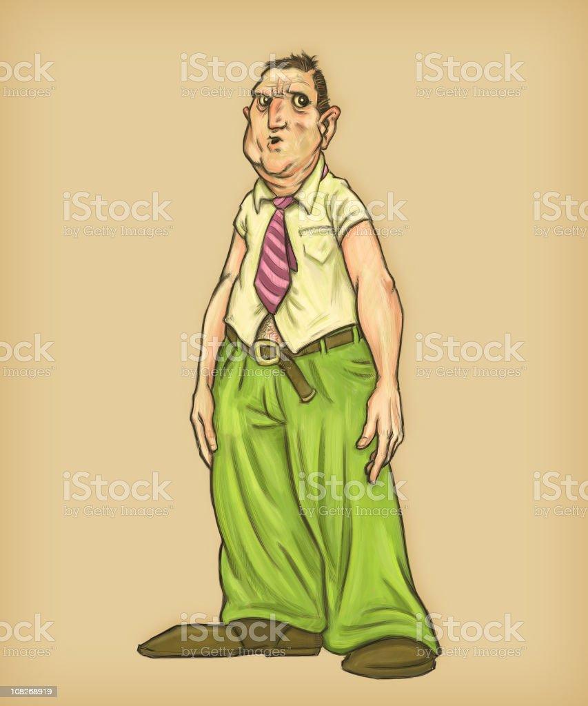 Sloppy Businessman with Untucked Shirt vector art illustration