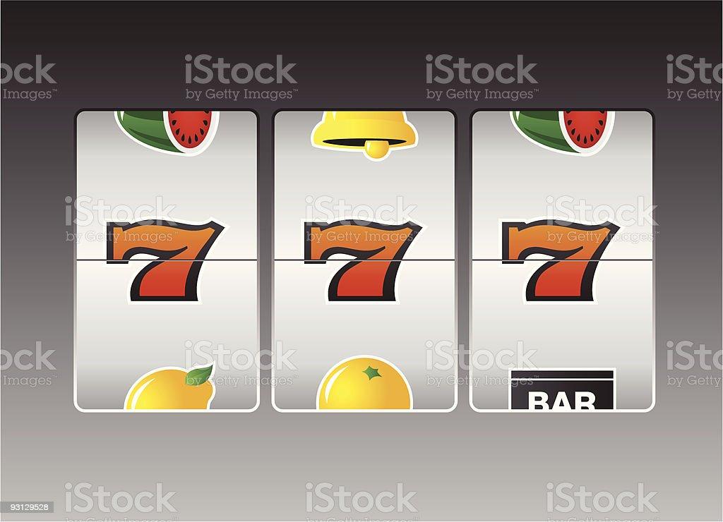 Slot Machine 1 royalty-free stock vector art