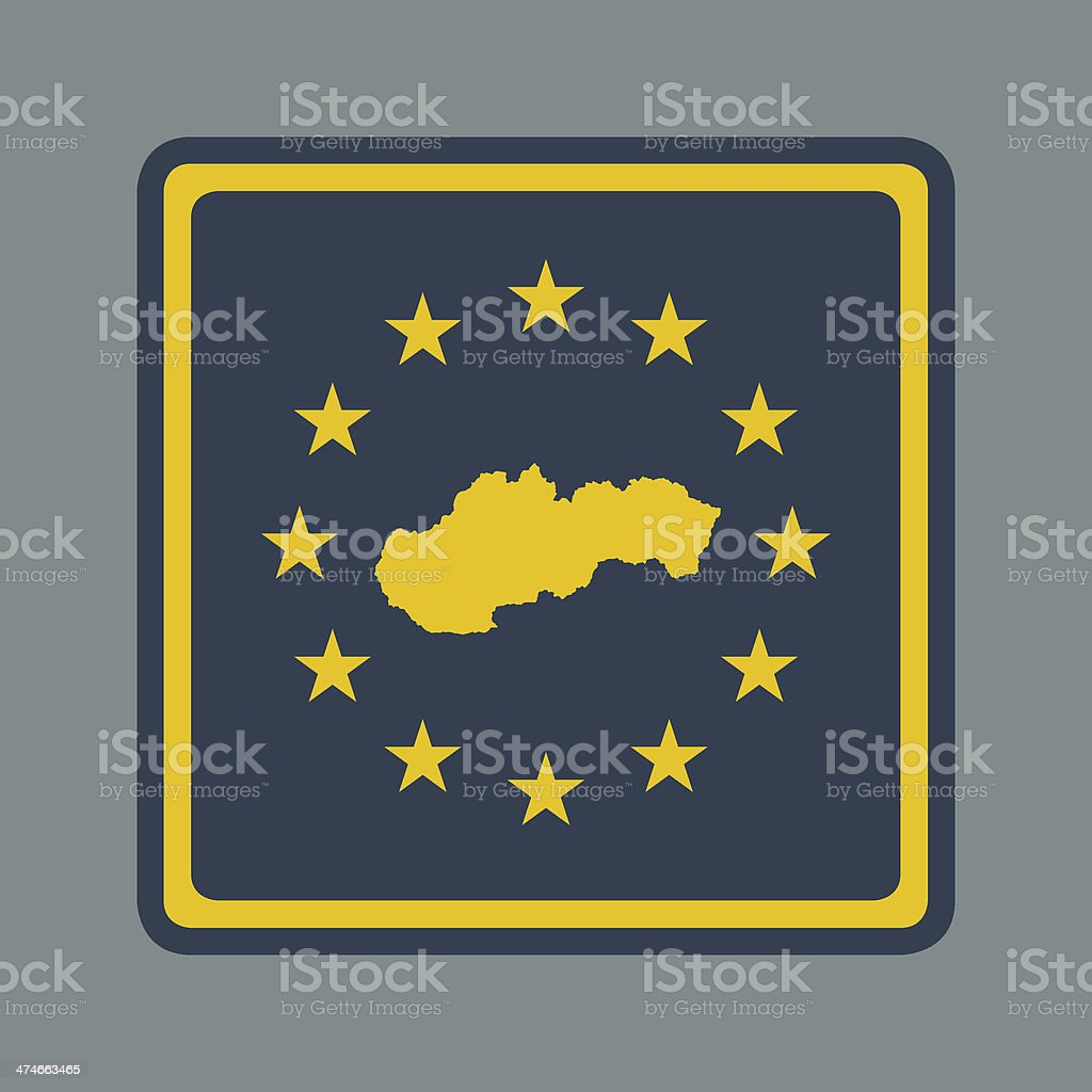 Slovakia European flag button royalty-free stock vector art