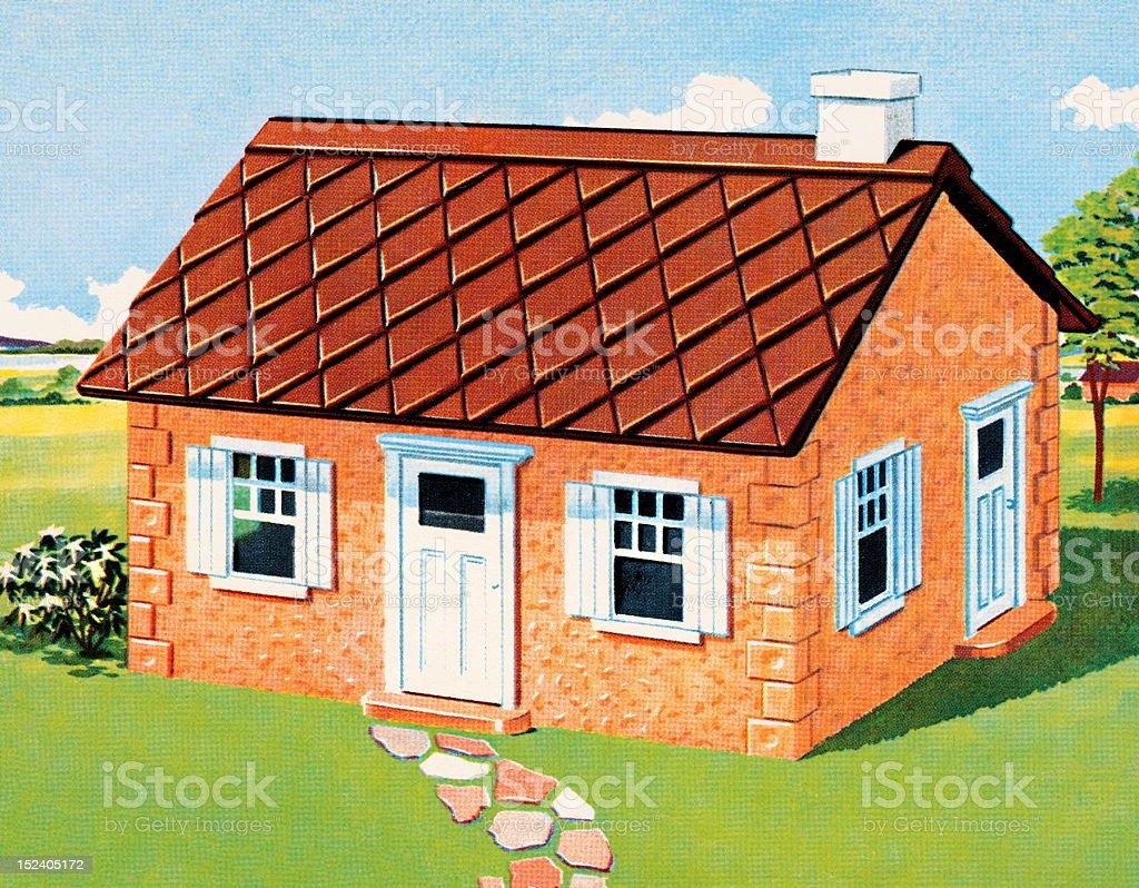 Smal Orange House royalty-free stock vector art