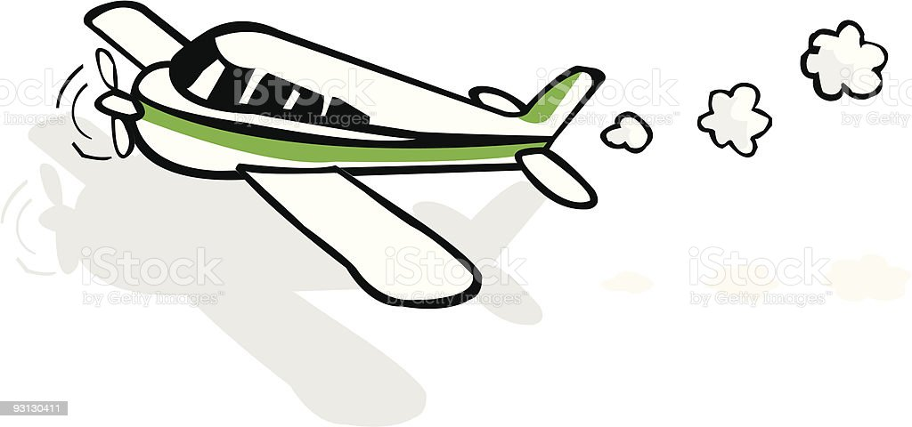 Small airplane royalty-free stock vector art