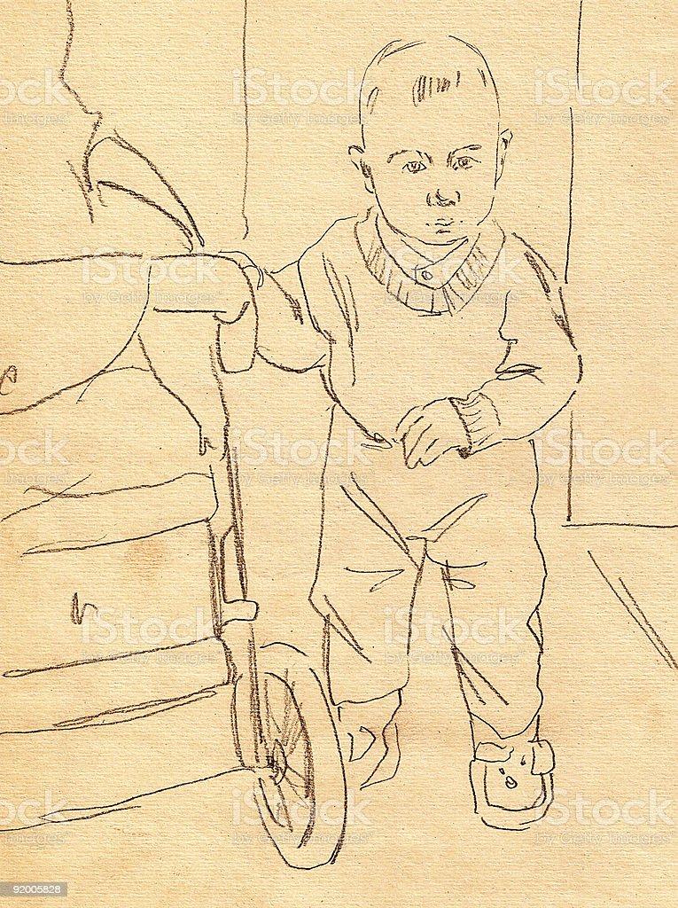 Small boy royalty-free stock vector art