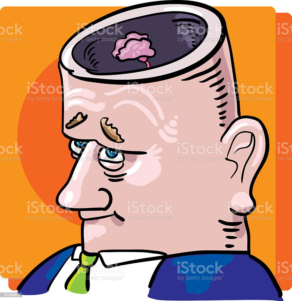 small brain royalty-free stock vector art