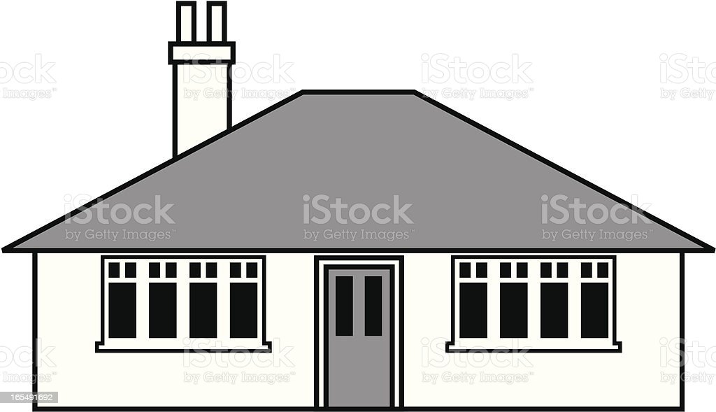 Small bungalow. royalty-free stock vector art