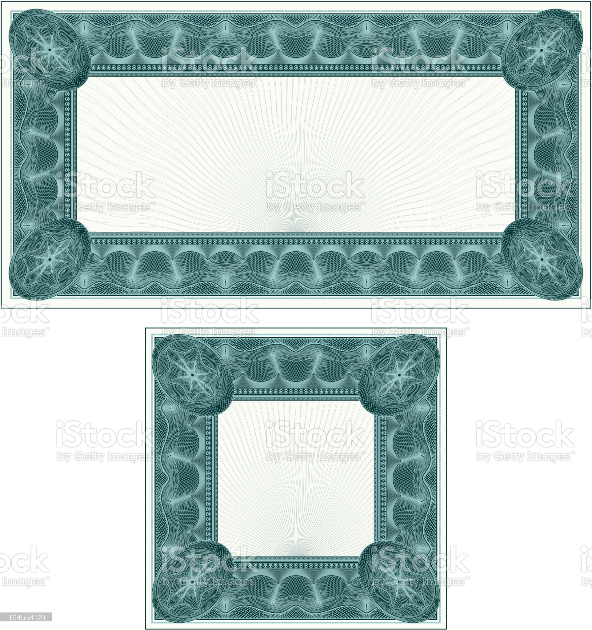 Small Certificate or Coupon Set royalty-free stock vector art