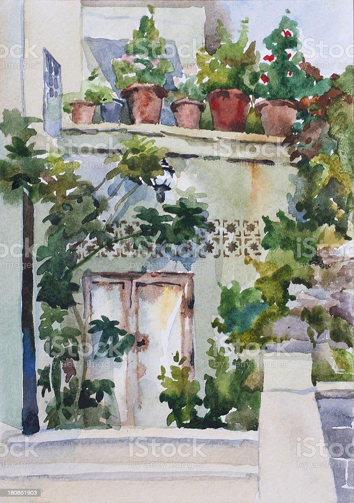 Small eastern garden royalty-free stock vector art