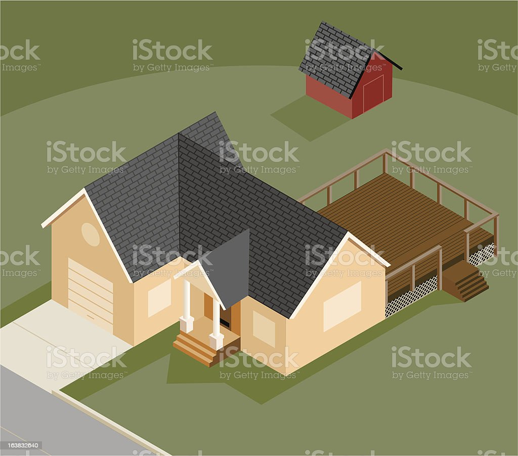 Small Home royalty-free stock vector art