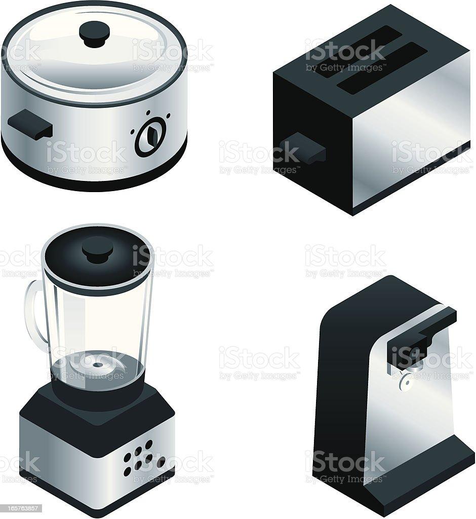 Small Isometric Kitchen Appliances vector art illustration