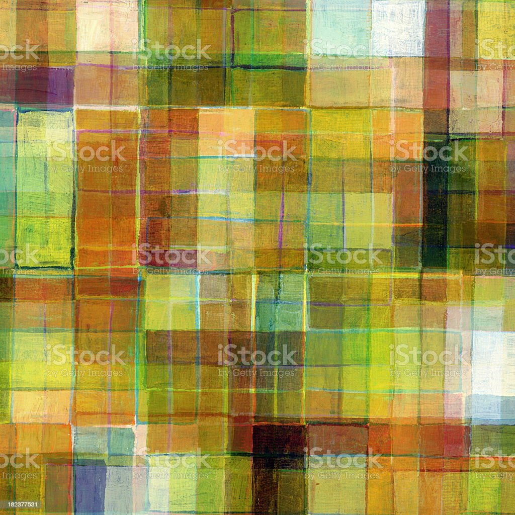 Small Painted Grid royalty-free stock vector art