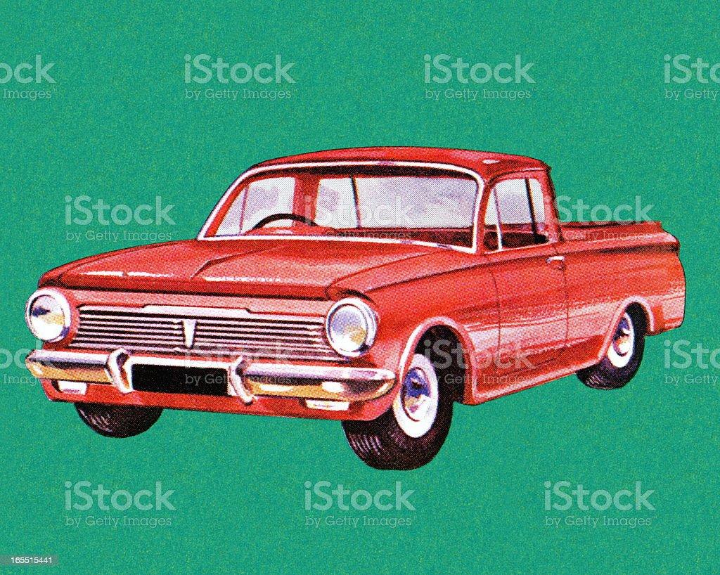 Small Pickup Truck royalty-free stock vector art