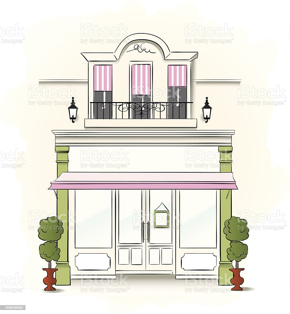 Small Store royalty-free stock vector art