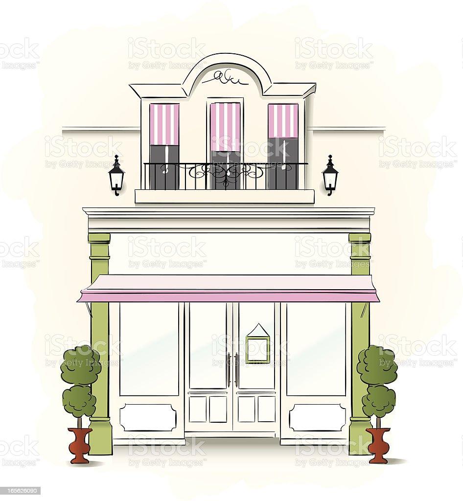 Small Store vector art illustration