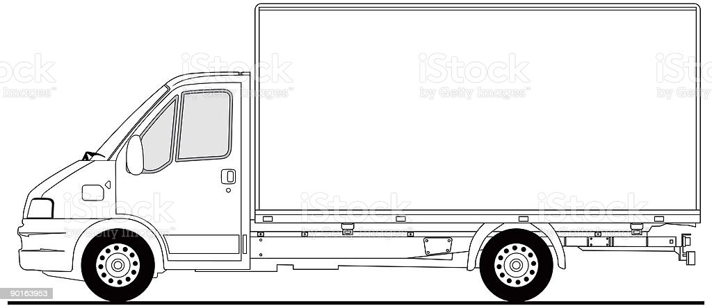 Small truck - vector royalty-free stock vector art