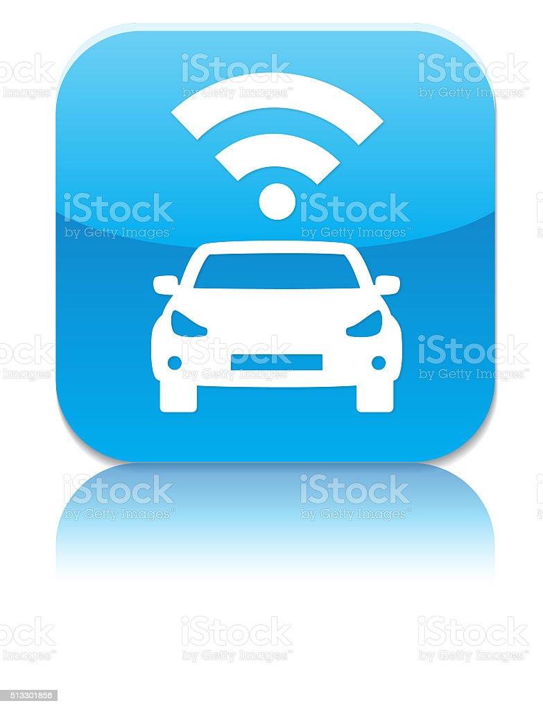 smart car app vector art illustration