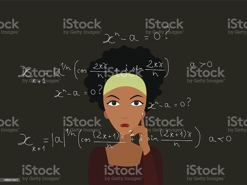 Smart girl royalty-free stock vector art