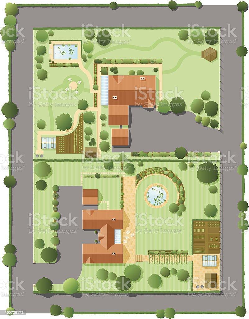 Smart neighbourhood royalty-free stock vector art