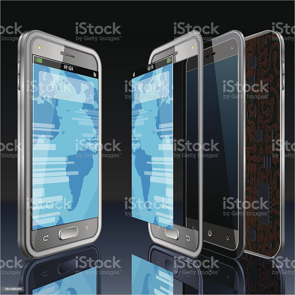 Smart Phone Concept royalty-free stock vector art