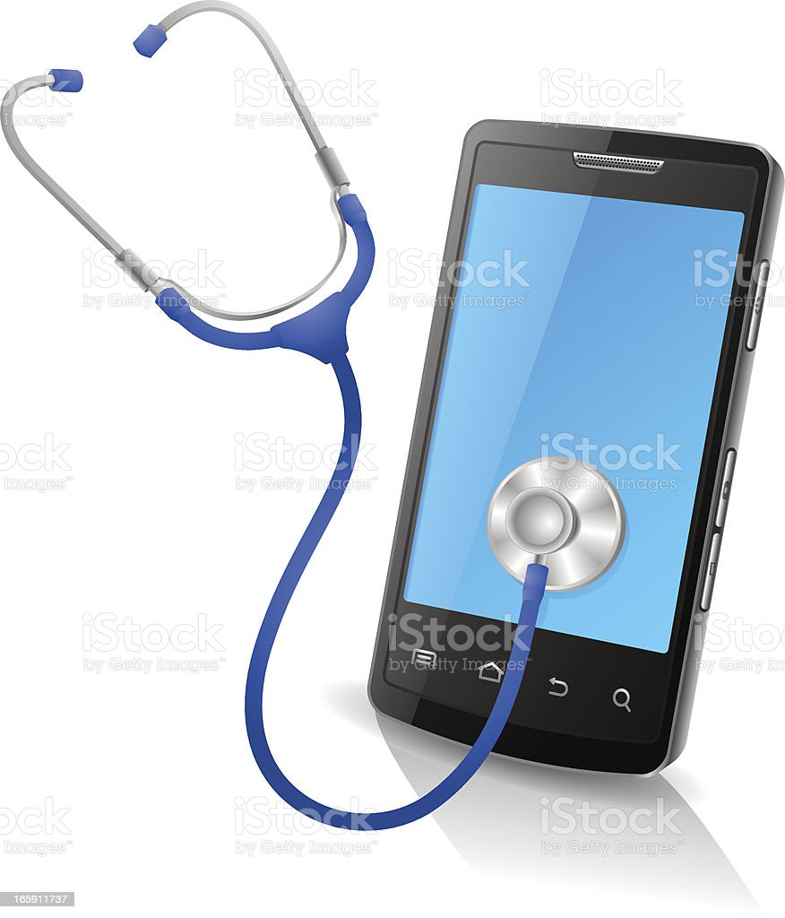 Smart Phone Doctor royalty-free stock vector art