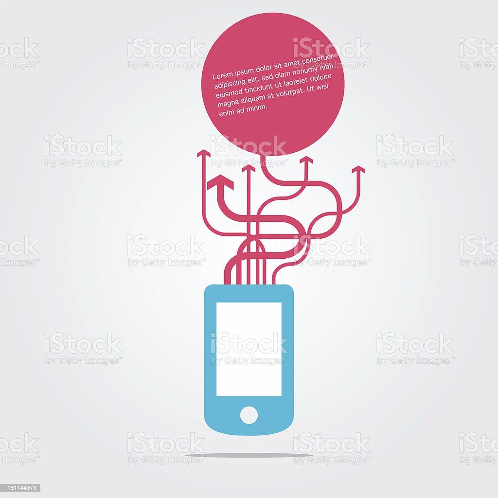 Smartphone communication royalty-free stock vector art