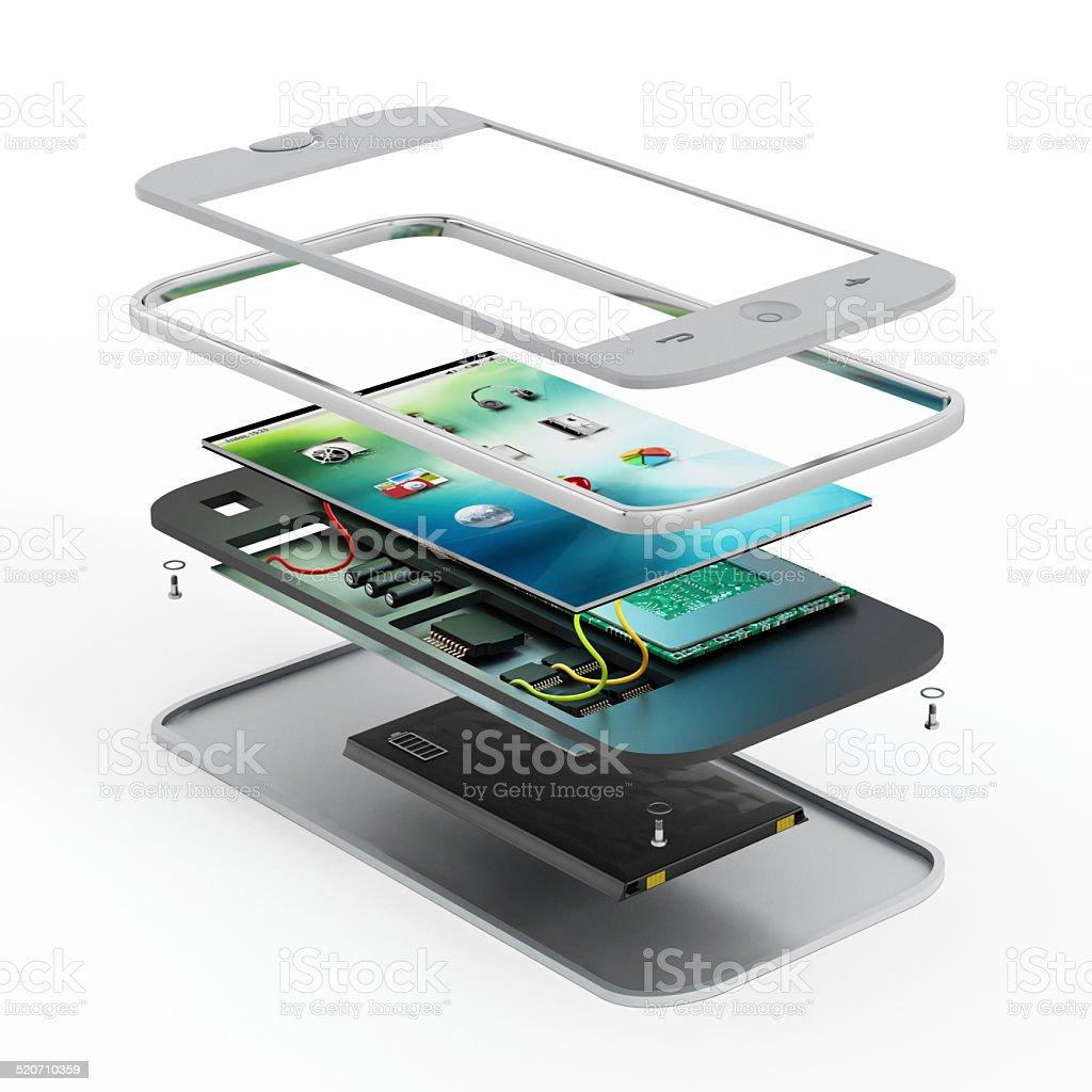 Smartphone technical illustration vector art illustration