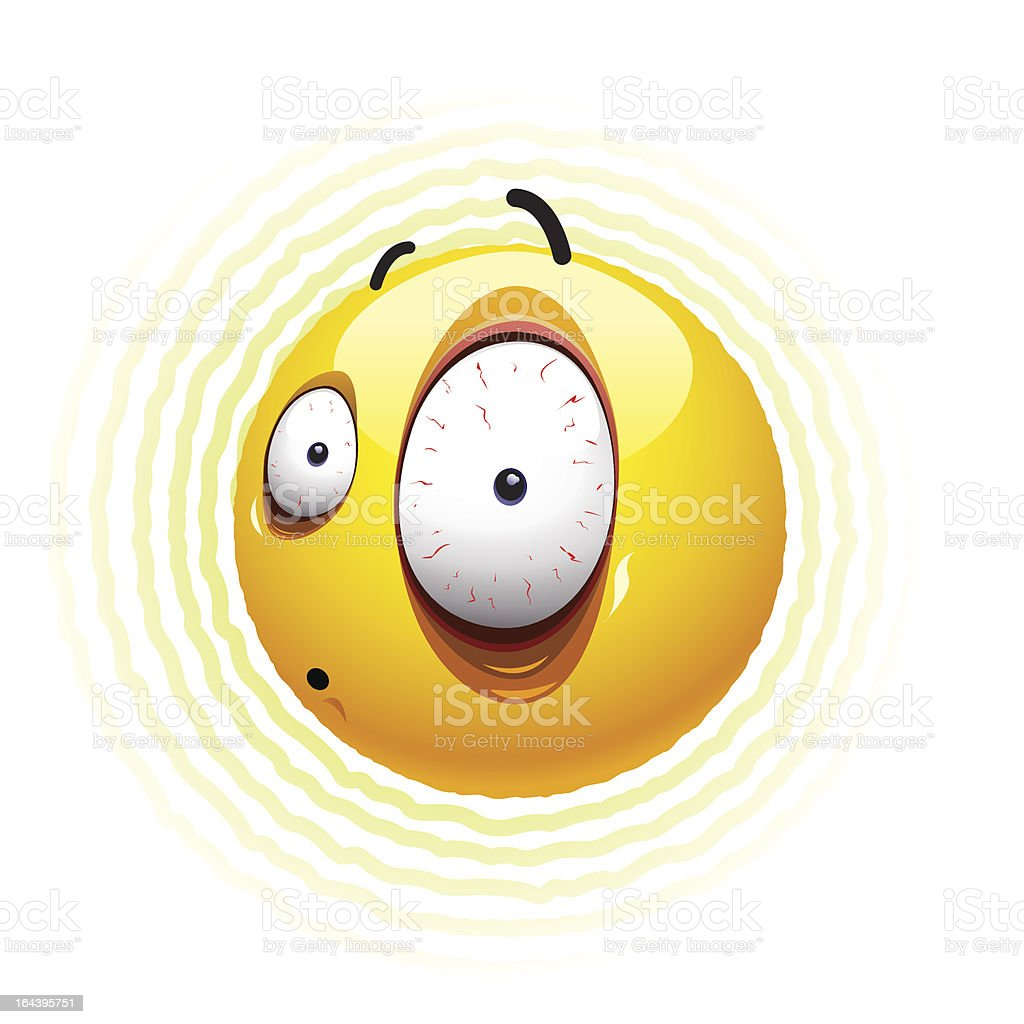 Smiley ball vector art illustration