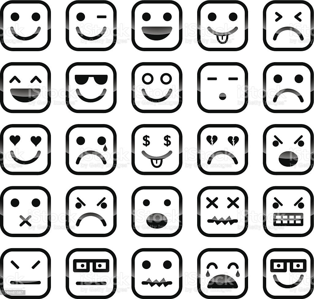 Smiley faces icons royalty-free stock vector art