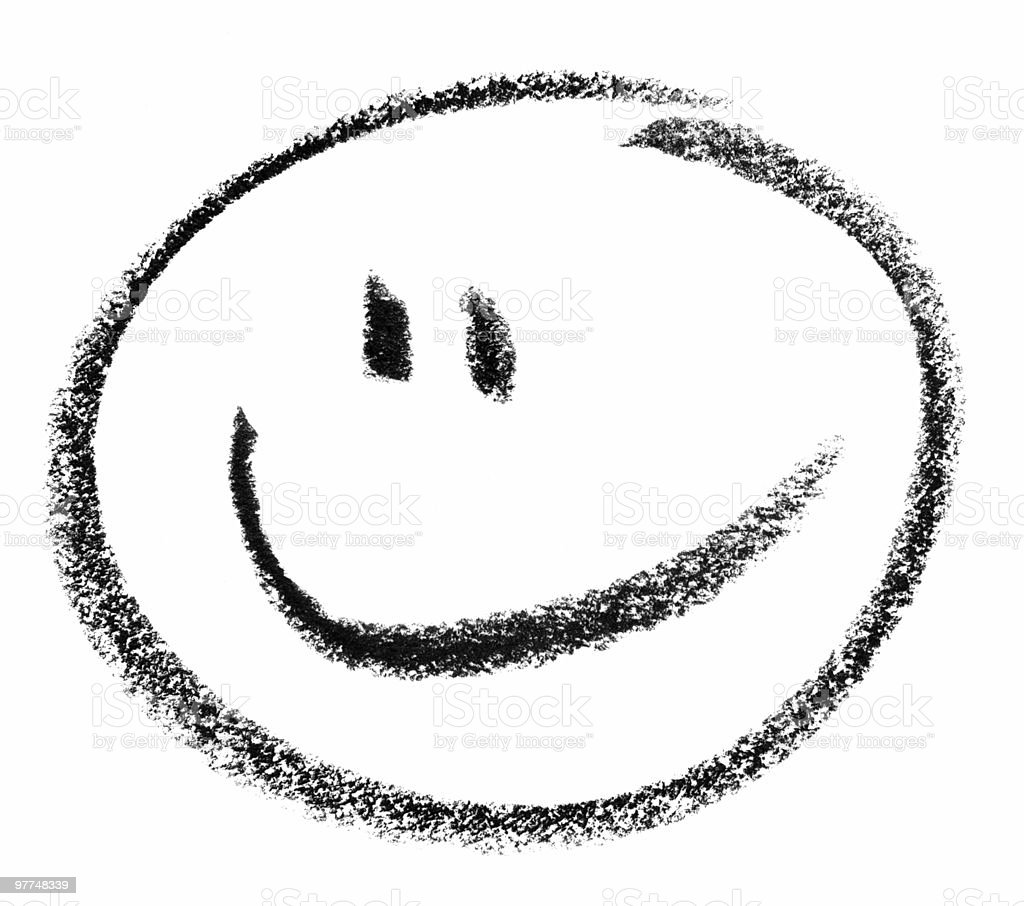 smiley sketch vector art illustration