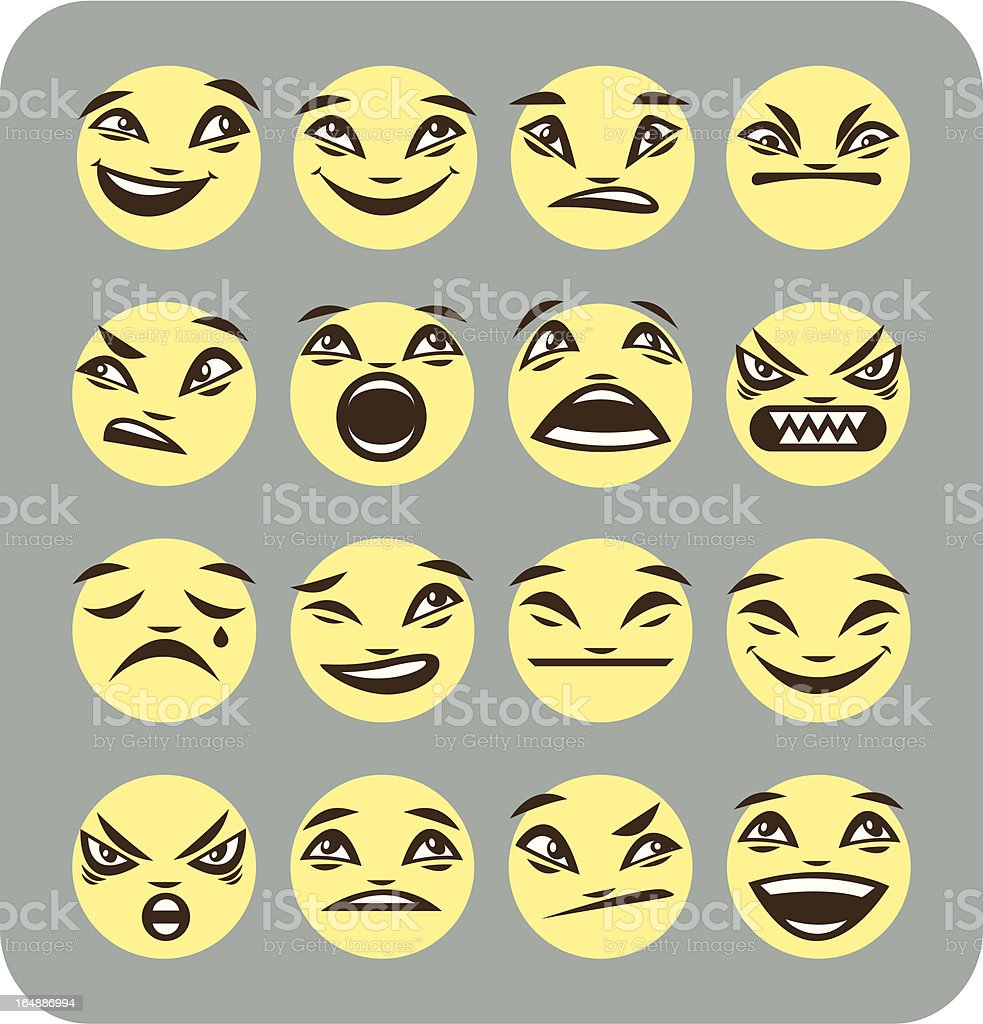 smilies royalty-free stock vector art