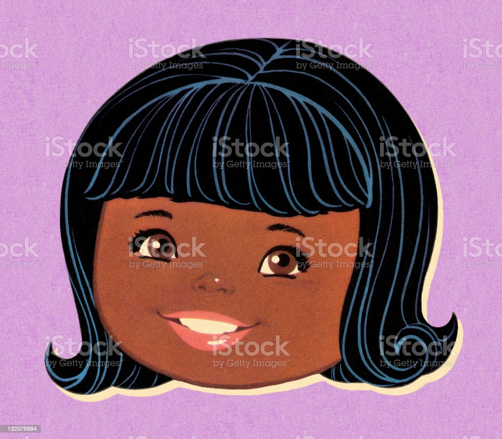 Smiling African American Girl royalty-free stock vector art