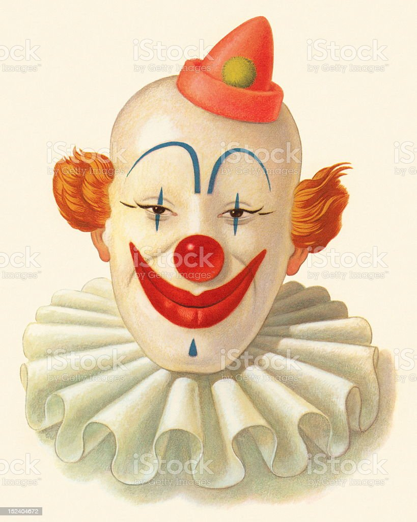 Smiling Clown vector art illustration