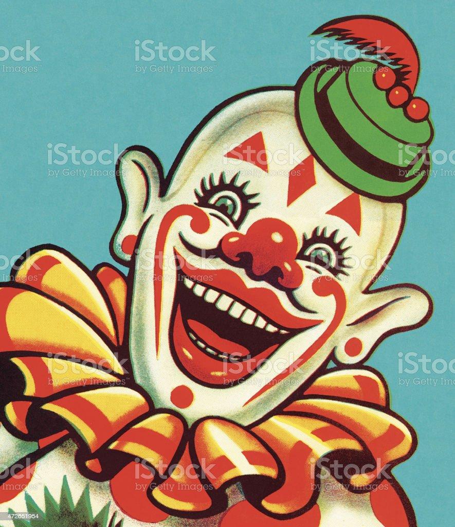 Smiling Clown vector art illustration