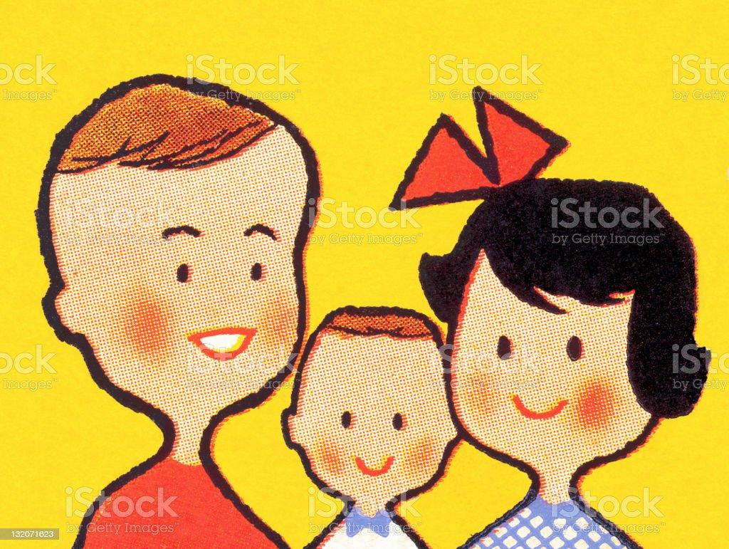 Smiling Family royalty-free stock vector art