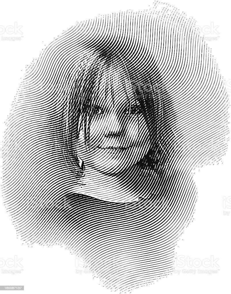 Smiling Girl royalty-free stock vector art