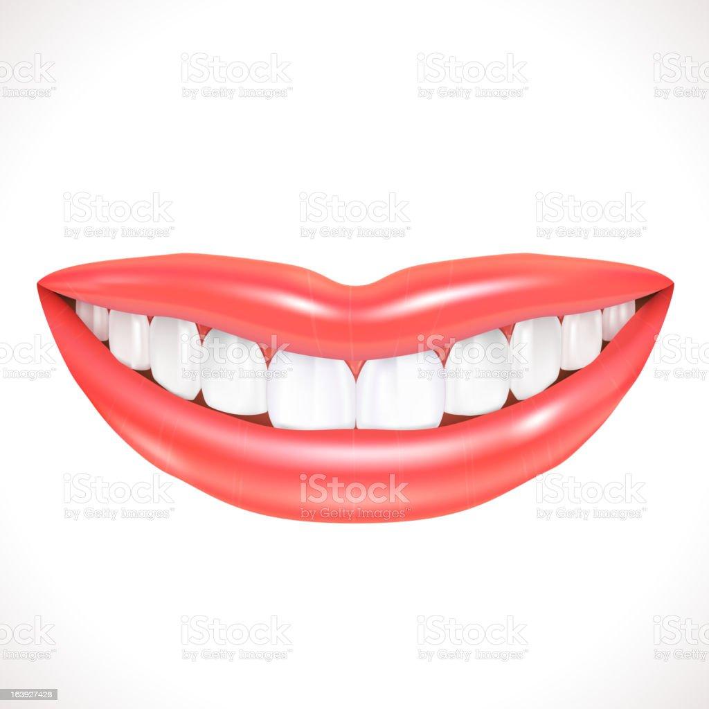 Smiling lips royalty-free stock vector art
