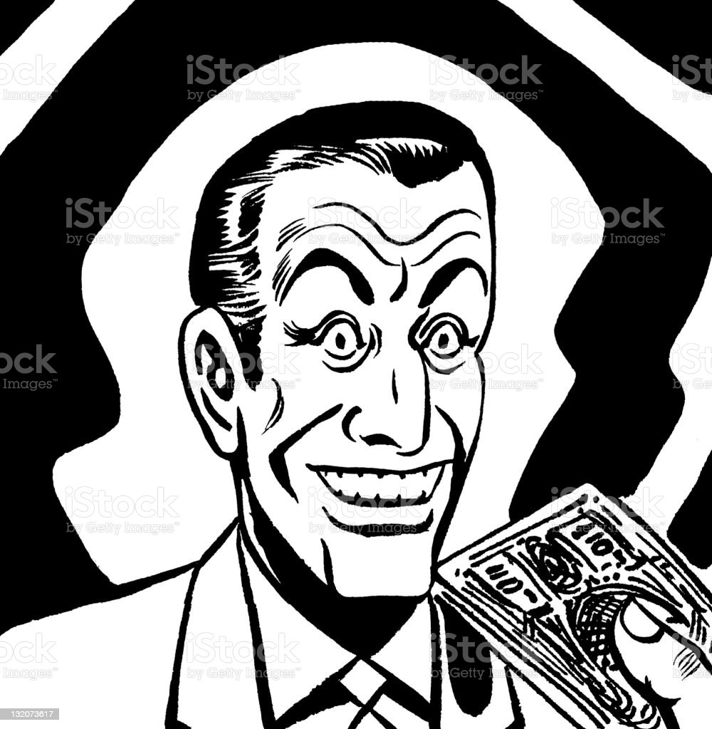 Smiling Man With Money royalty-free stock vector art