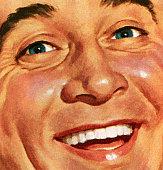 Smiling Man's Face