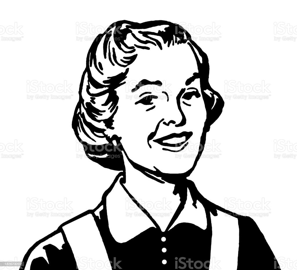 Smiling Older Woman royalty-free stock vector art
