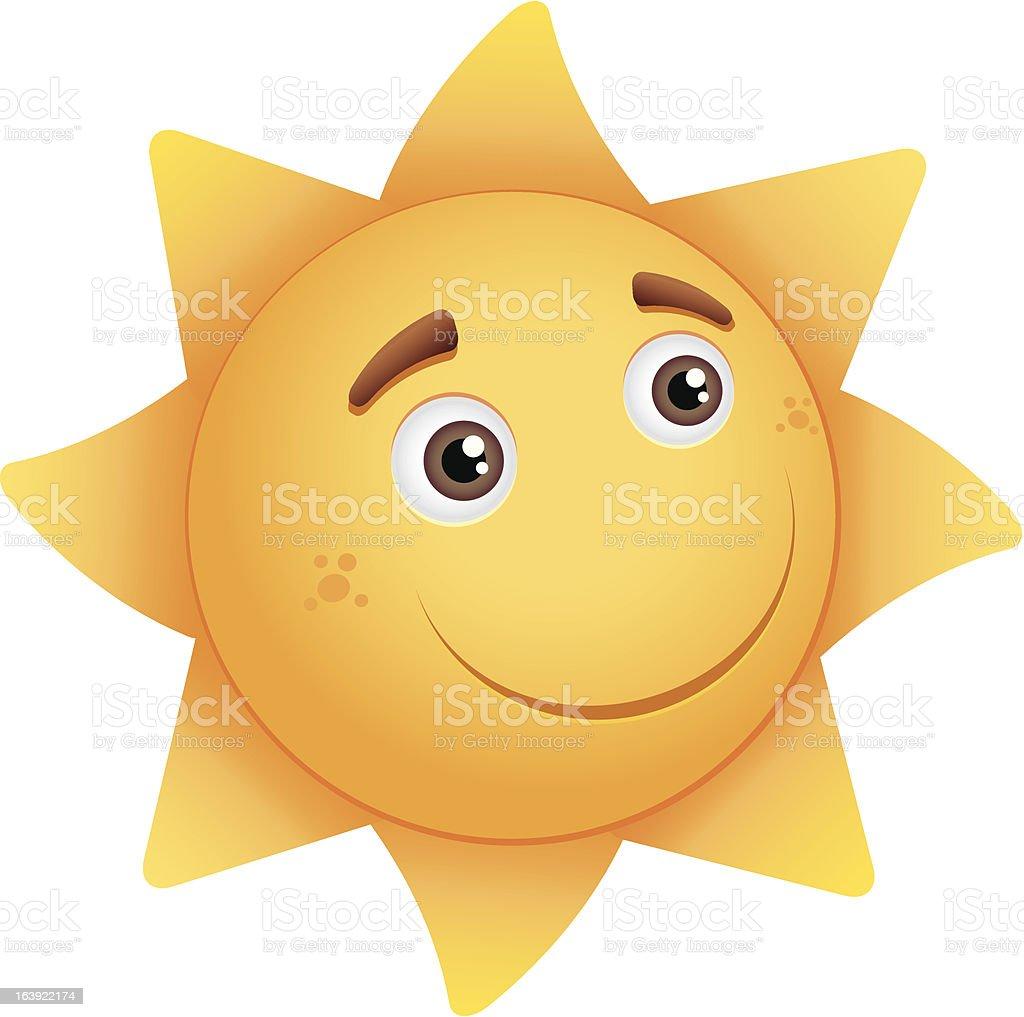 Uśmiecha się Słońce stockowa ilustracja wektorowa royalty-free