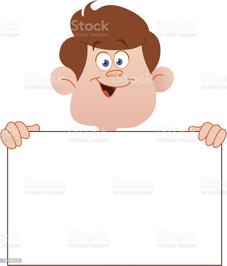 Smiling teenager with sign royalty-free stock vector art