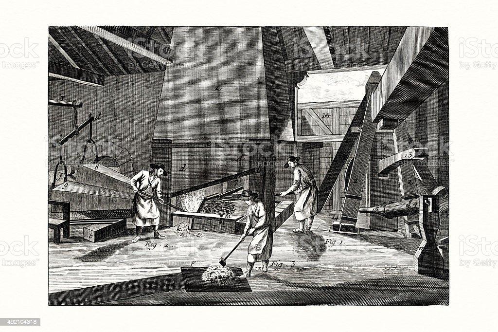 Smith Workshop 18 century illustration vector art illustration