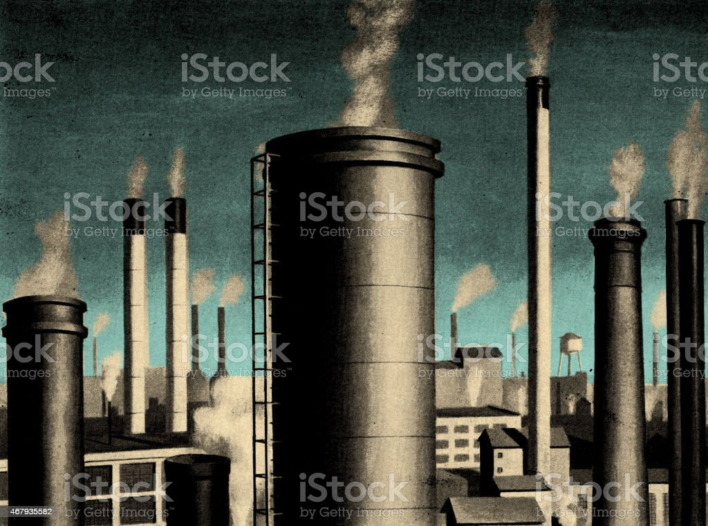 Smoke Stacks vector art illustration