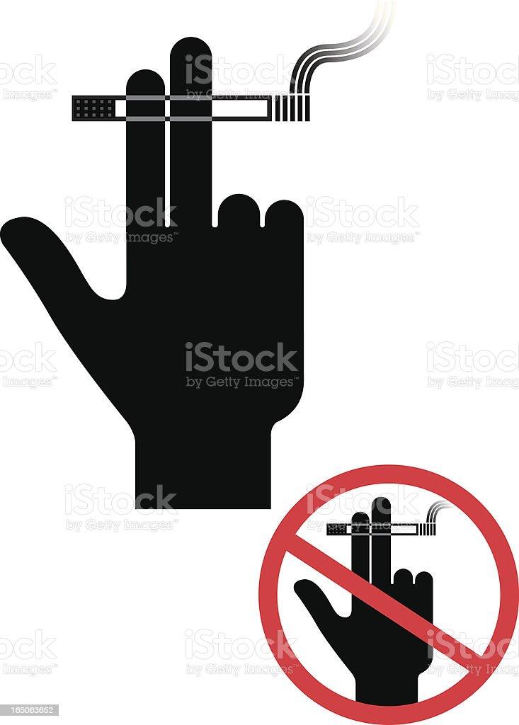 Smoking hand royalty-free stock vector art