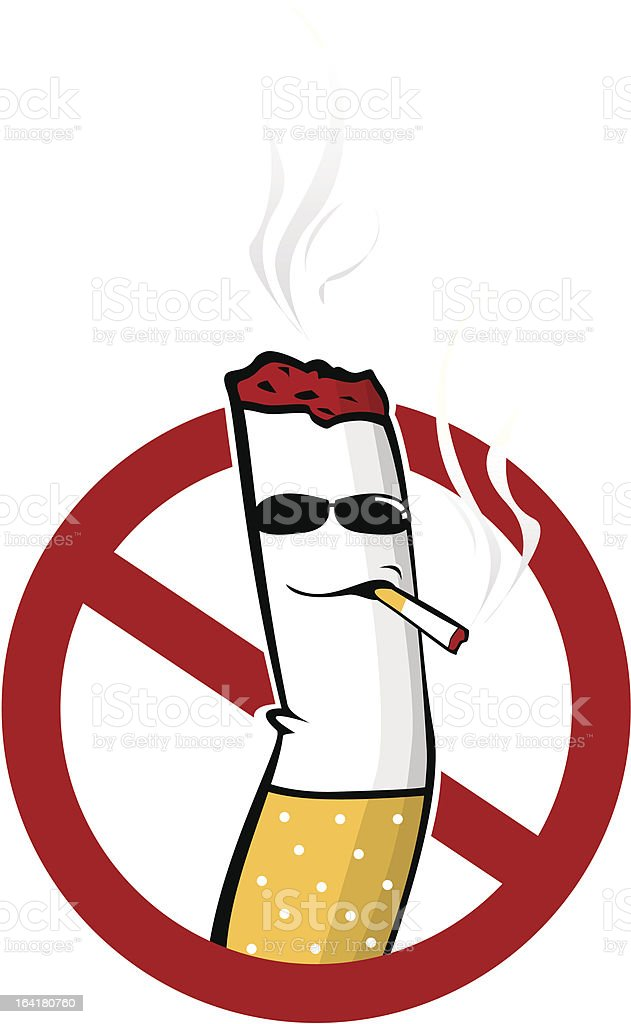 Smoking royalty-free stock vector art
