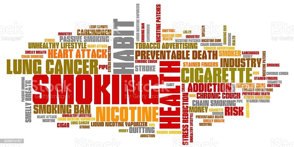Smoking vector art illustration