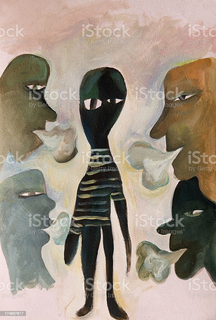 Smoking man royalty-free stock vector art