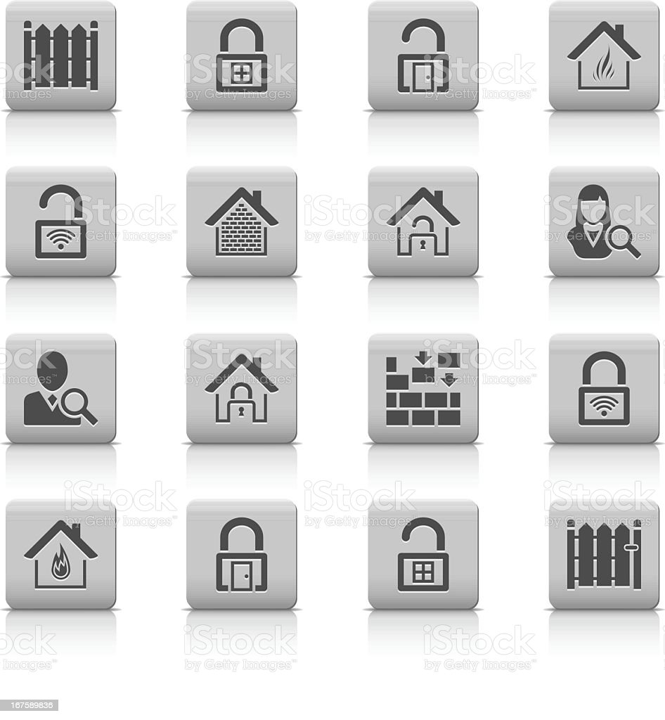 Smooth Series Home Securing vector art illustration