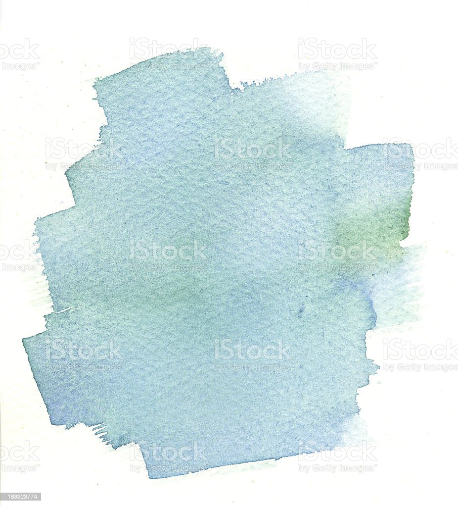 Smudged Bluewater color washed background royalty-free stock vector art