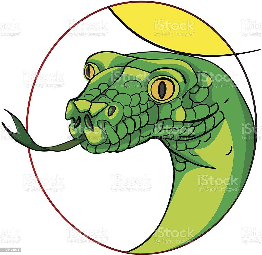 snake head medallion royalty-free stock vector art