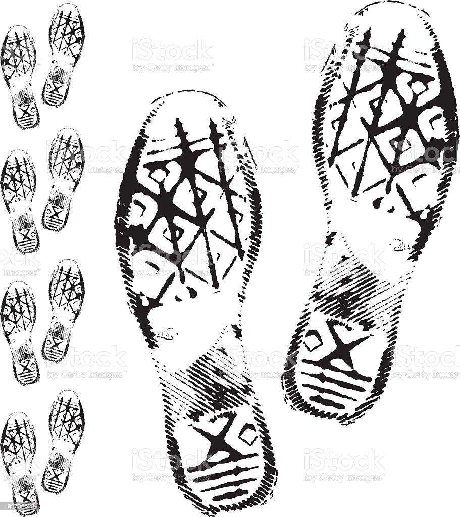 sneaker print vector art illustration