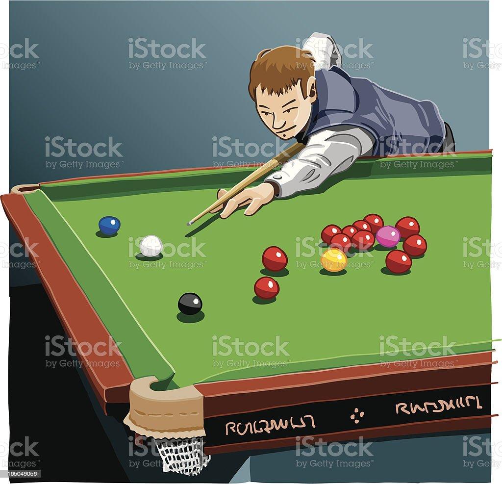 Snooker Player vector art illustration
